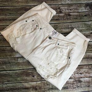 One teaspoon Eagles Cropped Boyfriend Jeans